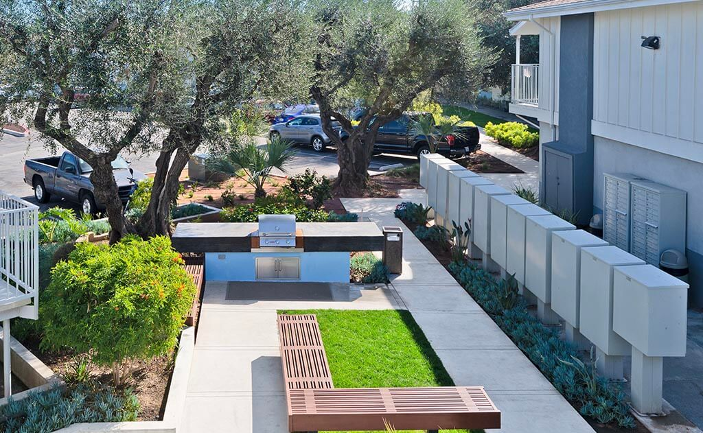 Outdoor barbecues at The Circle Apartments