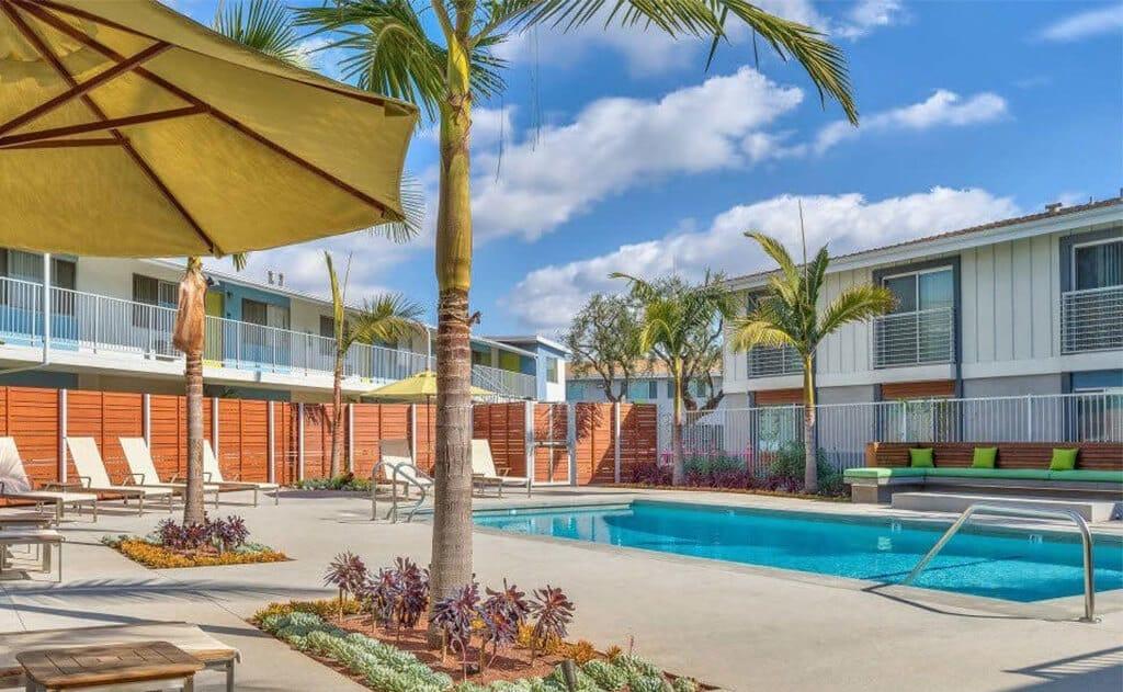 Three resort style pools at The Circle Apartments