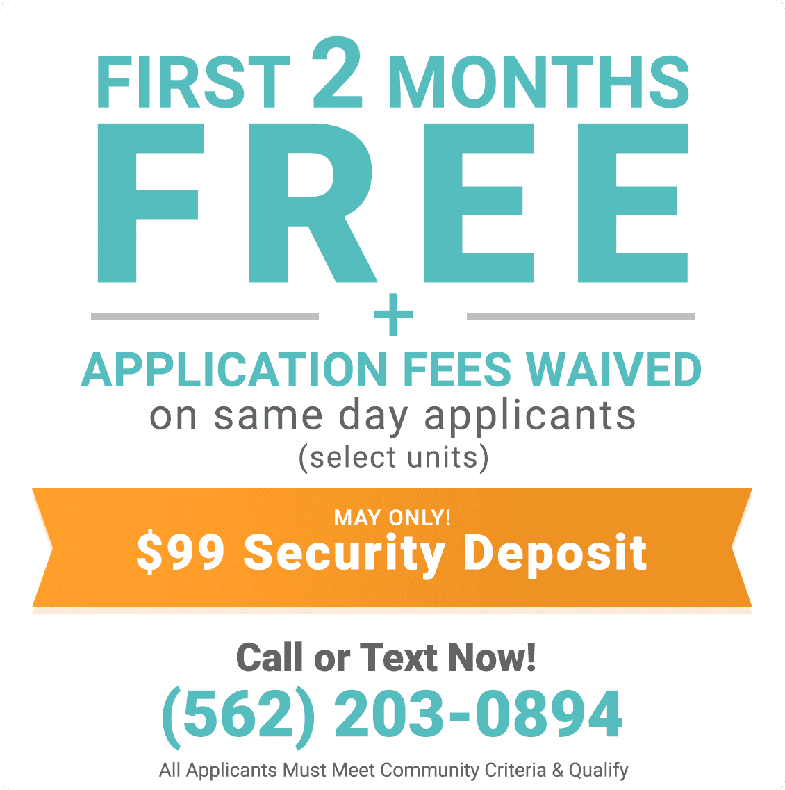 First 2 months free only during May