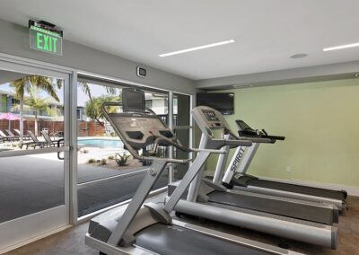 The Circle Apartments Treadmills in the complex's gym