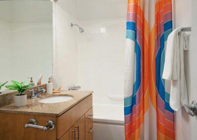 The Circle Apartments Master Bathroom