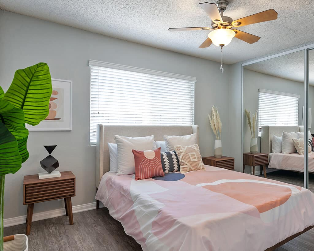 The Circle Apartments has Ceiling Fans in every bedroom